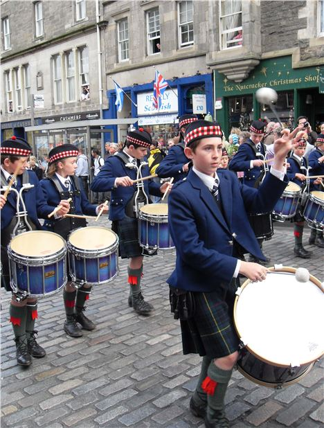 Drum Minors On The Royal Mile