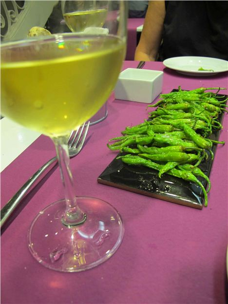 Guindilla Peppers And A Glass Of Albarino