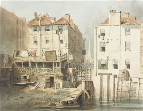 36. Hungerford Stairs, 1830, Site Of Thre Blacking Factory Where Dickens Worked As A Boy