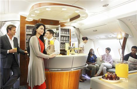2. Emirates Business - The Business Class Bar On The Top Deck Of Emeirates A380. Image Courtesy Of Emirates