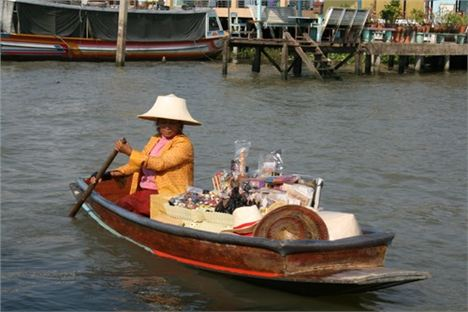 2. Bangkok David Cawley One Of The Small Flotilla Of Venders Who Aproach Tourist Boats On The Khlongs.