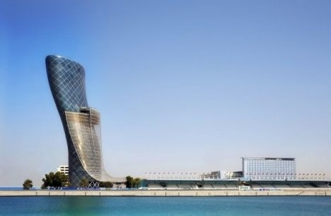 Hyatt Capital Gate Hotel In All Its Leaning Glory