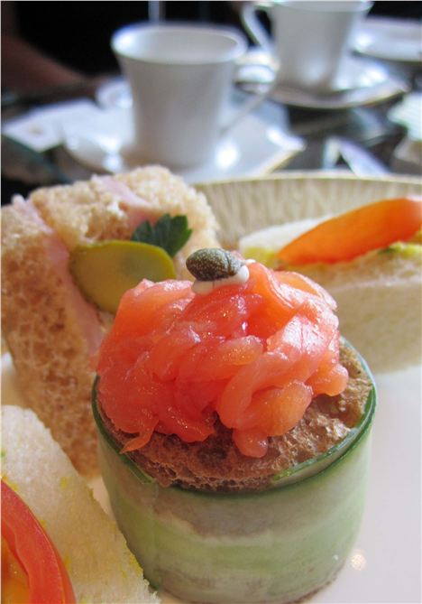 A Deconstructed Cucumber Sandwich At The Madarin Oriental Tea-Party
