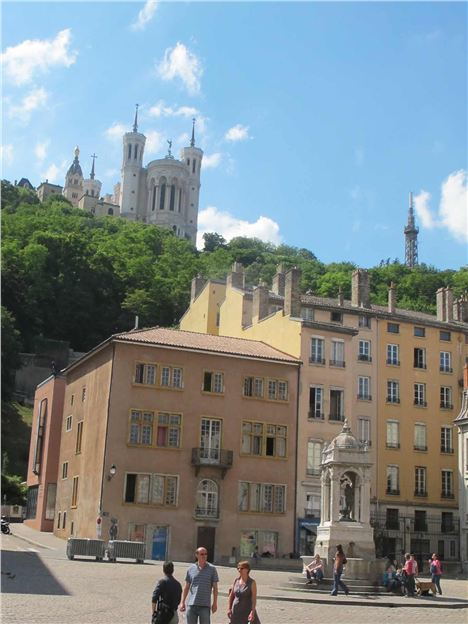 Looking Up At The Fourviere
