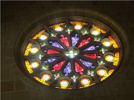 Gorgeous Rose Window At Ambierle's Benedictine Church