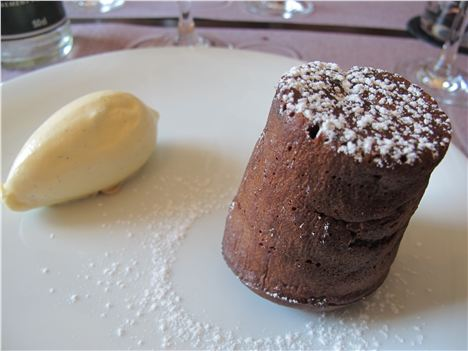 Chocolate Pud At Epicerie Cafe Central