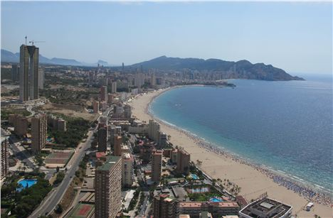 Benidorm From The Rooftop Of The Gran Bali Hotel