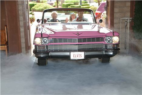 Our Pink Cadillac Entrance