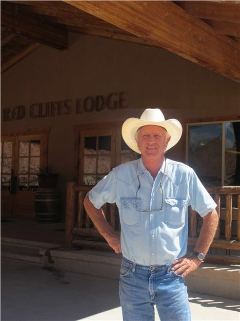 Colin Fryer Outsde His Red Cliffs Lodge