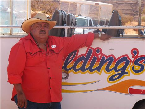 Our Monument Valley Driver, Navajo David