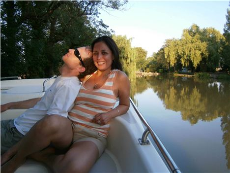 Captain Nick Relaxes With Wife Tania At Sunset