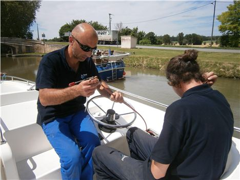 Running Repairs From The Le Boat Engineers After Breakdown