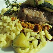 Spätzle with veal