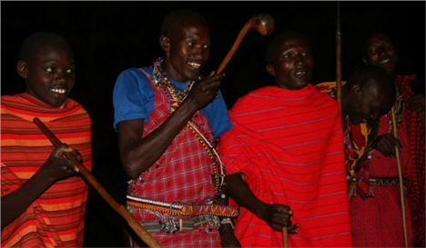 Masai Warriors Love To Put On A Show For The %28Lady%29 Guests