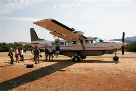 Guests Come Into The Reserve On A Cessna 208, Offering Spectacular Views