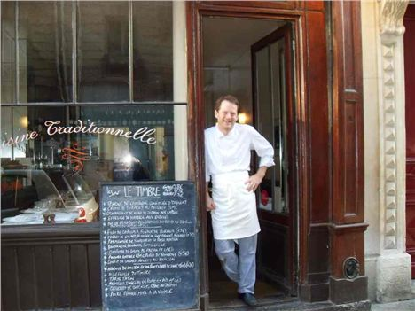 Chris Wright Outside Le Timbre