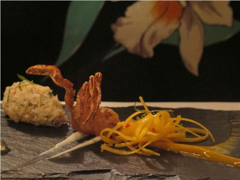 Elaborate Crab Starter At Linthwaite
