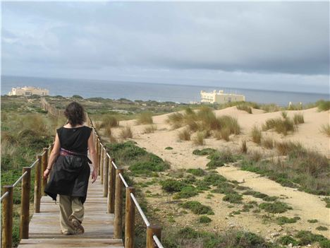 Down The Dunes Towards The Forttaleza