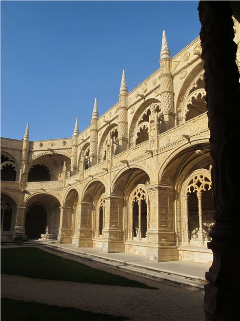 Sunlit Cloister In The Mosteiro Dos Jeronimos