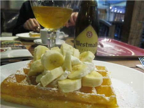 Waffle With Bananas %28And Trappiste Ale%29