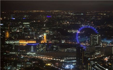 Houses Of Parliament By Night From The Shard