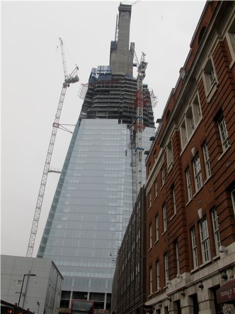 The Shard Under Construction.