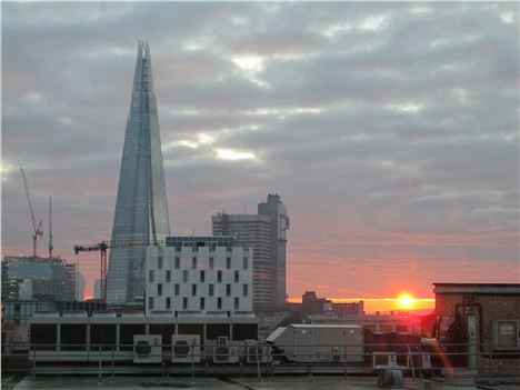 Sunrise With The Shard