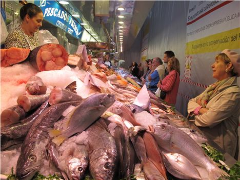 Fish Stall In The Central Market