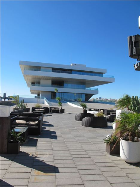 David Chipperfield's Veles E Vents Building From The Seafront Bar Terrace