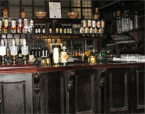 Olde Cheshire Cheese Interior