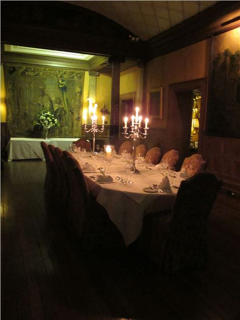 Castle Leslie Dining Room By Night