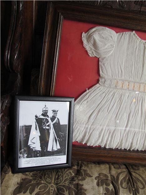 Winston Churchill's Christening Frock, Plus Him Later With The Kaiser