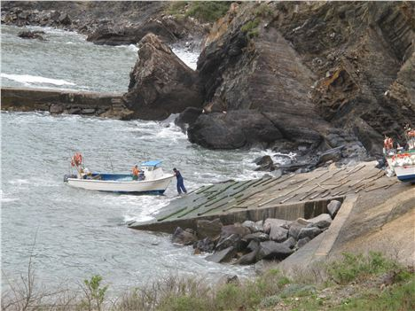 Fishermen Putting Out On The Wild Coast