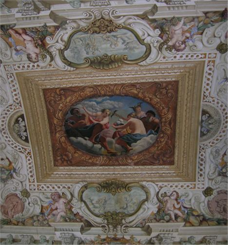Ceiling At Villa Tiepolo Passi
