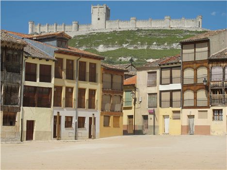 Penafiel Castle Rears Above The Plaza Del Cosa