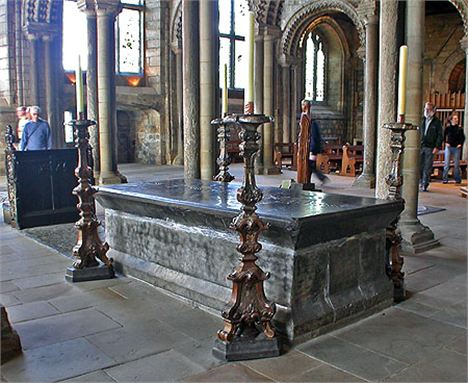 Venerable Bede's Tomb In Durham Cathedral