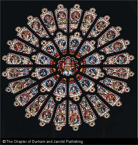 The Rose Window In Durham Cathedral