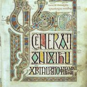 Page From The Lindisfarne Gospels