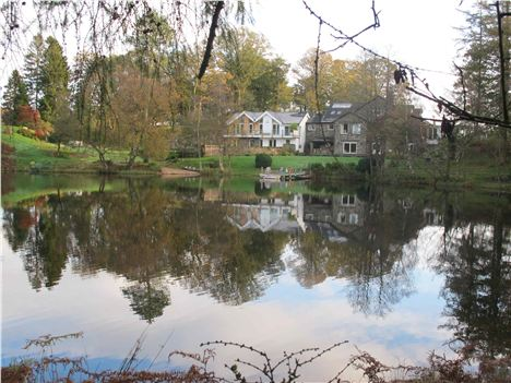 Lake House From Across The Tarn