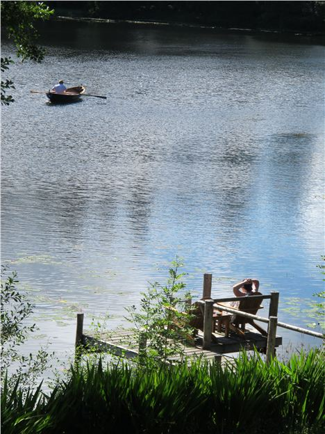 Rowing On The Tarn At Lake House