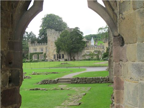 The Duke's Residence From The Abbey Ruins