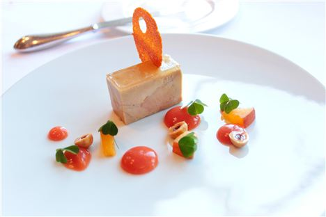 Terrine Of Goose Liver, Peaches And Cobnuts