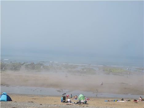 Sea Fret Lifting At Widemouth