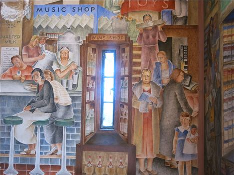 Depression Era Mural Inside Coit Tower
