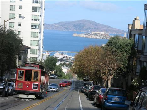 Uphill For The Hyde Street Cable Car