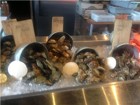 Selection Of Oysters At Waterfront Warehouse Restaurant %26#38%3B Oyster Bar,