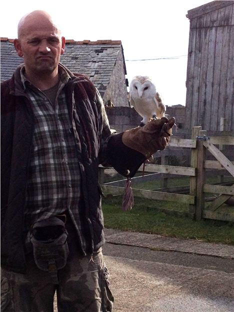 Gary Zammit With Owl At Qwen An Mor