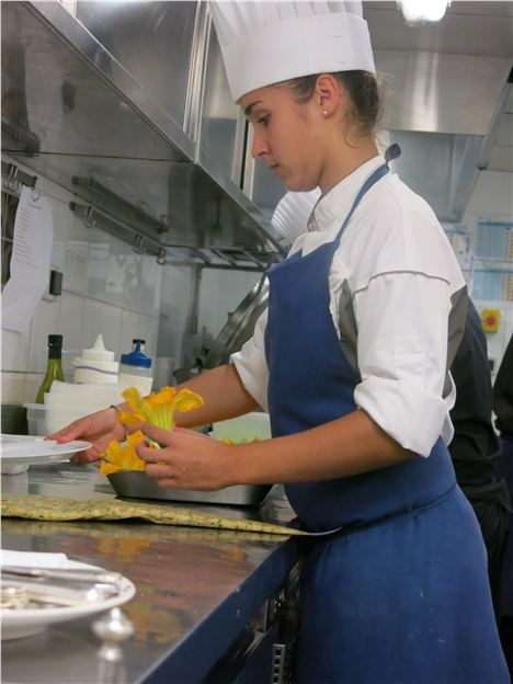 Preparing Courgette Flowers In Candille's Kitchen