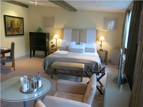Our Gorgeous Delux Suite And, Below, Its View Of St Mary's