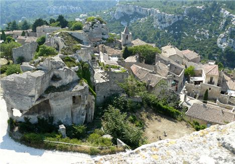 Les Baux From One Of The Towers